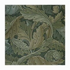 Vintage Background Green Leaves Medium Glasses Cloth