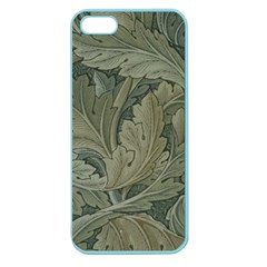 Vintage Background Green Leaves Apple Seamless Iphone 5 Case (color) by Nexatart