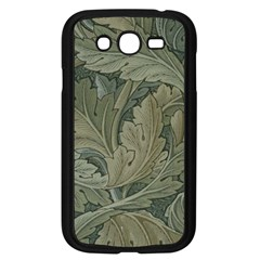 Vintage Background Green Leaves Samsung Galaxy Grand Duos I9082 Case (black) by Nexatart