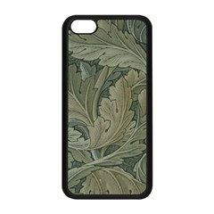 Vintage Background Green Leaves Apple Iphone 5c Seamless Case (black) by Nexatart