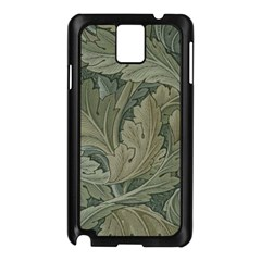 Vintage Background Green Leaves Samsung Galaxy Note 3 N9005 Case (black)