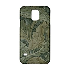 Vintage Background Green Leaves Samsung Galaxy S5 Hardshell Case