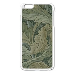 Vintage Background Green Leaves Apple Iphone 6 Plus/6s Plus Enamel White Case by Nexatart