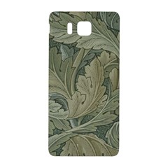 Vintage Background Green Leaves Samsung Galaxy Alpha Hardshell Back Case by Nexatart