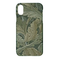 Vintage Background Green Leaves Apple Iphone X Hardshell Case