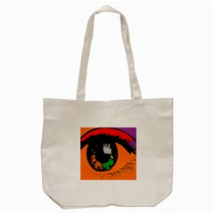 Eyes Makeup Human Drawing Color Tote Bag (cream)