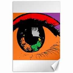 Eyes Makeup Human Drawing Color Canvas 24  X 36