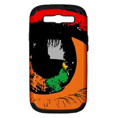 Eyes Makeup Human Drawing Color Samsung Galaxy S Iii Hardshell Case (pc+silicone)