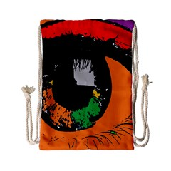Eyes Makeup Human Drawing Color Drawstring Bag (small)