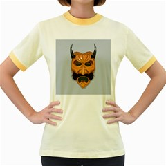 Mask India South Culture Women s Fitted Ringer T Shirts
