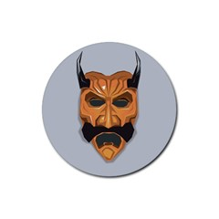 Mask India South Culture Rubber Coaster (round)  by Nexatart