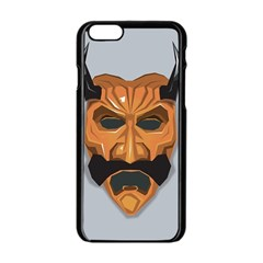 Mask India South Culture Apple Iphone 6/6s Black Enamel Case by Nexatart