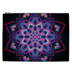 Mandala Circular Pattern Cosmetic Bag (xxl)  by Nexatart