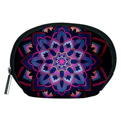 Mandala Circular Pattern Accessory Pouches (medium)  by Nexatart