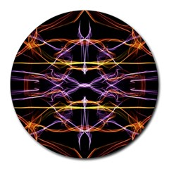Wallpaper Abstract Art Light Round Mousepads by Nexatart