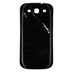 Black Marble Tiles Rock Stone Statues Samsung Galaxy S3 Back Case (black)