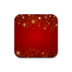 Background Abstract Christmas Rubber Square Coaster (4 Pack)  by Nexatart