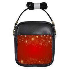 Background Abstract Christmas Girls Sling Bags