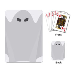 Ghost Halloween Spooky Horror Fear Playing Card by Nexatart