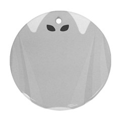Ghost Halloween Spooky Horror Fear Round Ornament (two Sides) by Nexatart