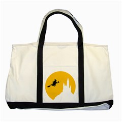 Castle Cat Evil Female Fictiona Two Tone Tote Bag