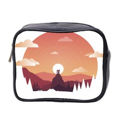 Design Art Hill Hut Landscape Mini Toiletries Bag 2 Side