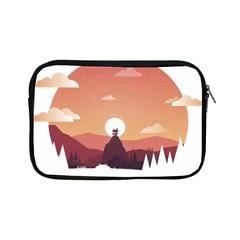 Design Art Hill Hut Landscape Apple Ipad Mini Zipper Cases