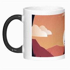 Design Art Hill Hut Landscape Morph Mugs by Nexatart