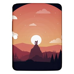 Design Art Hill Hut Landscape Samsung Galaxy Tab 3 (10 1 ) P5200 Hardshell Case