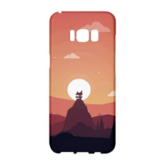 Design Art Hill Hut Landscape Samsung Galaxy S8 Hardshell Case