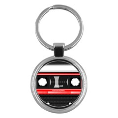 Compact Cassette Musicassette Mc Key Chains (round)  by Nexatart