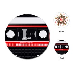 Compact Cassette Musicassette Mc Playing Cards (round)