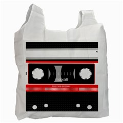 Compact Cassette Musicassette Mc Recycle Bag (one Side) by Nexatart