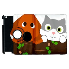 Baby Decoration Cat Dog Stuff Apple Ipad 3/4 Flip 360 Case by Nexatart
