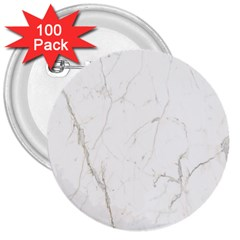 White Marble Tiles Rock Stone Statues 3  Buttons (100 Pack)