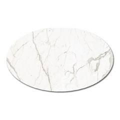White Marble Tiles Rock Stone Statues Oval Magnet by Nexatart
