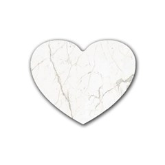 White Marble Tiles Rock Stone Statues Heart Coaster (4 Pack)