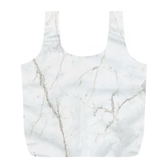 White Marble Tiles Rock Stone Statues Full Print Recycle Bags (l)