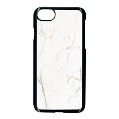 White Marble Tiles Rock Stone Statues Apple Iphone 7 Seamless Case (black)