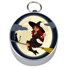 Witch Witchcraft Broomstick Broom Silver Compasses