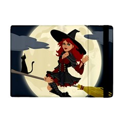 Witch Witchcraft Broomstick Broom Ipad Mini 2 Flip Cases by Nexatart
