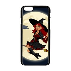 Witch Witchcraft Broomstick Broom Apple Iphone 6/6s Black Enamel Case