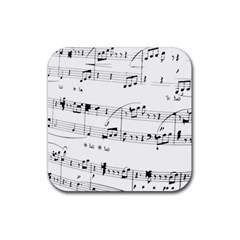 Abuse Background Monochrome My Bits Rubber Square Coaster (4 Pack)