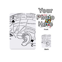 Brain Chart Diagram Face Fringe Playing Cards 54 (mini)  by Nexatart