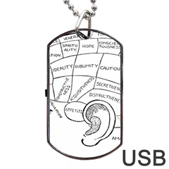 Brain Chart Diagram Face Fringe Dog Tag Usb Flash (one Side)