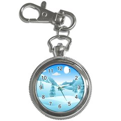 Landscape Winter Ice Cold Xmas Key Chain Watches by Nexatart