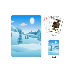 Landscape Winter Ice Cold Xmas Playing Cards (mini)