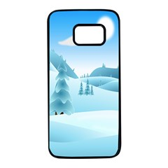 Landscape Winter Ice Cold Xmas Samsung Galaxy S7 Black Seamless Case