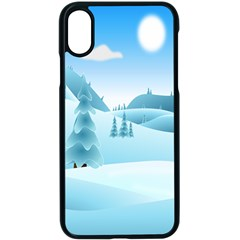 Landscape Winter Ice Cold Xmas Apple Iphone X Seamless Case (black)