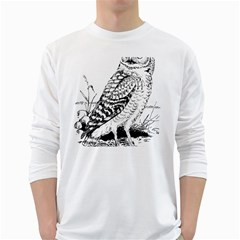 Animal Bird Forest Nature Owl White Long Sleeve T Shirts